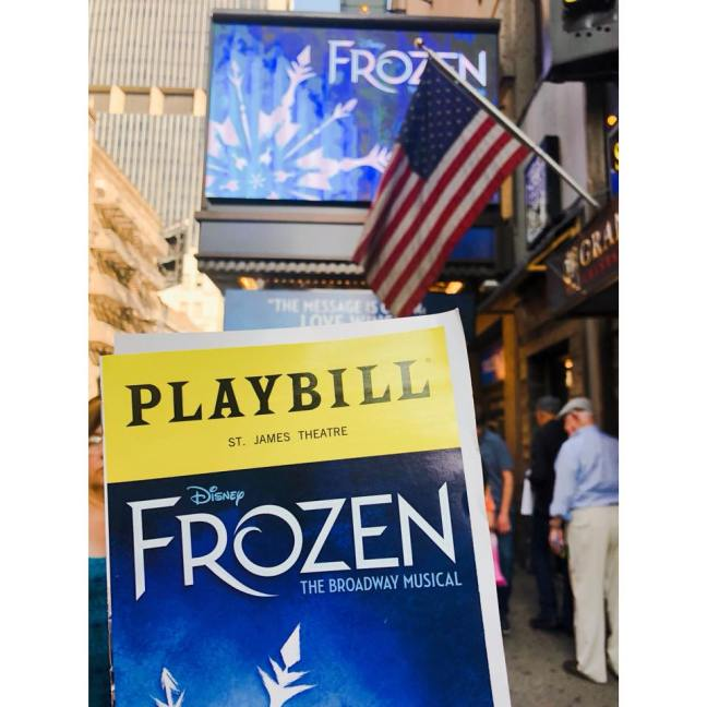 Frozen Broadway New York City